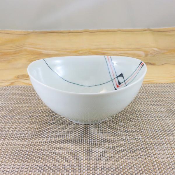 有田焼 おうち鉢(中) オリジナル商品 陶器 和食器 モダン 二色スペースライン|hanaemishop|02
