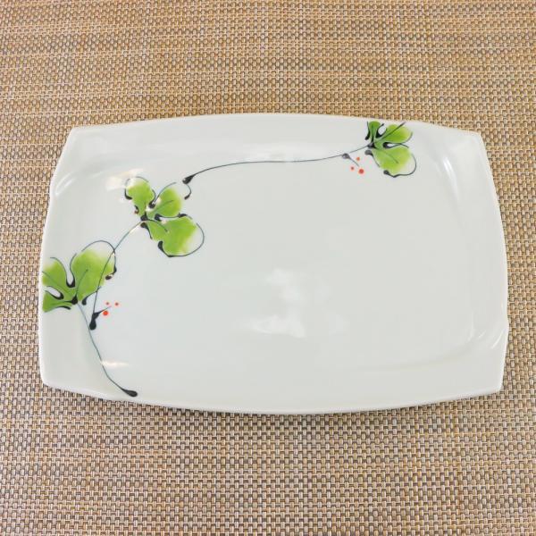 有田焼 渕取角皿 オリジナル商品 陶器 和食器 焼き皿 おしゃれ ラズベリー|hanaemishop|02