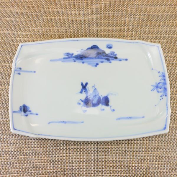 有田焼 渕取 角皿 オリジナル商品 陶器 和食器 焼き皿 焼皿 夢人|hanaemishop|02