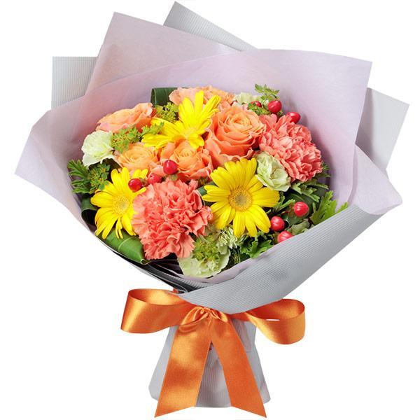 10月のおすすめ -512436(イエロー&オレンジの花束)花キューピット商品