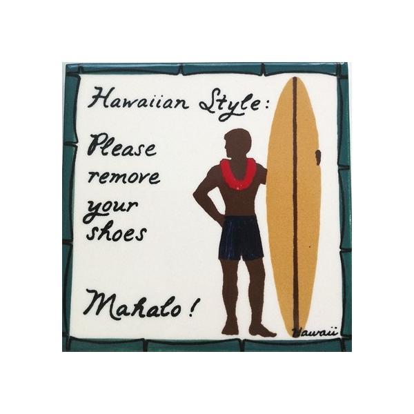 バナナ パッチ スタジオ アートタイル プレート ハワイアンスタイル・サーファー 15.2×15.2cm 【ハワイアン雑貨】 壁掛け ウォールデコレーション ハワイセラ|hanahawaii