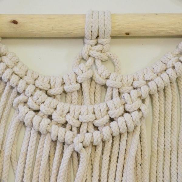ハワイアン雑貨 マクラメ編み タペストリー ブルー ショート 高さ約79cm×幅約41cm 壁掛け オーナメント|hanahawaii|03