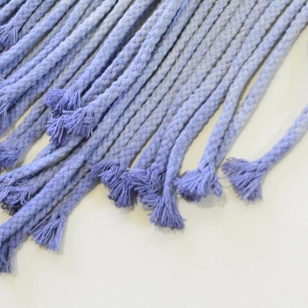 ハワイアン雑貨 マクラメ編み タペストリー ブルー ショート 高さ約79cm×幅約41cm 壁掛け オーナメント|hanahawaii|05