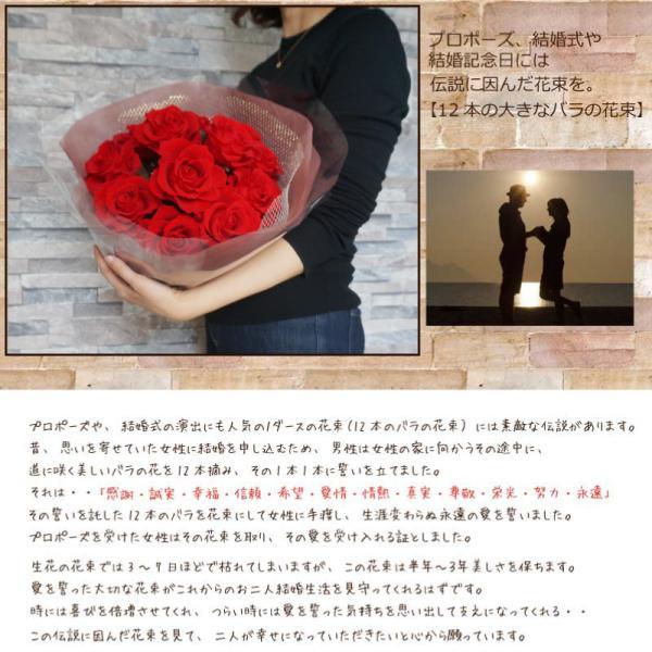 プロポーズ プリザーブドフラワー大バラの花束 結婚式や結婚記念日 12本|hanaippo|02