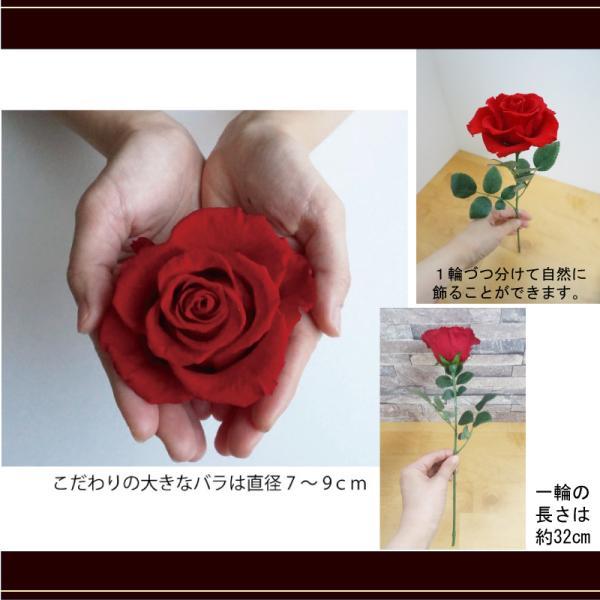 プロポーズ プリザーブドフラワー大バラの花束 結婚式や結婚記念日 12本|hanaippo|03