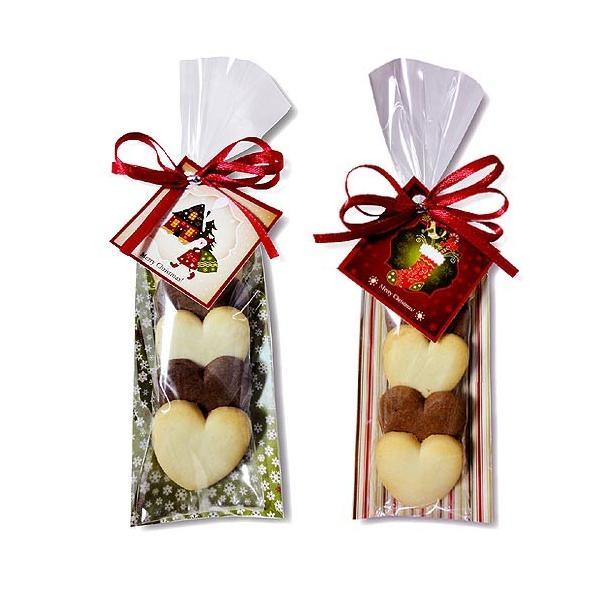 クリスマス お菓子 プチギフト「クリスマスハッピーハートHH」ウエルカムギフト クッキー配る 子ども 業務用 大量  個包装  販促 HZW-XHHC02|hanakobo-wedding|03