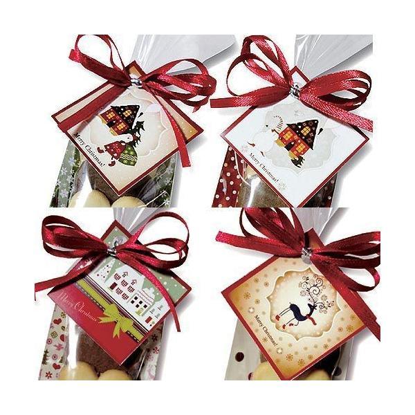 クリスマス お菓子 プチギフト「クリスマスハッピーハートHH」ウエルカムギフト クッキー配る 子ども 業務用 大量  個包装  販促 HZW-XHHC02|hanakobo-wedding|05