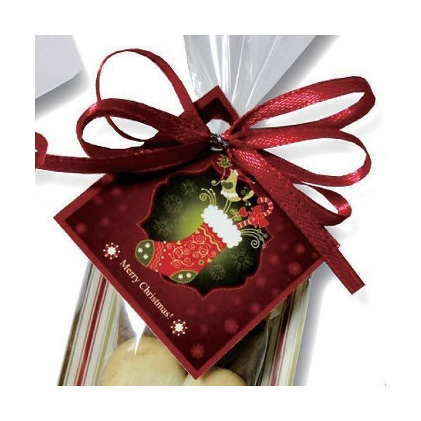 クリスマス お菓子 プチギフト「クリスマスハッピーハートHH」ウエルカムギフト クッキー配る 子ども 業務用 大量  個包装  販促 HZW-XHHC02|hanakobo-wedding|06