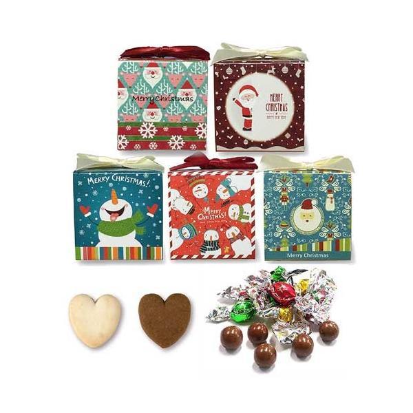 クリスマス お菓子 プチギフト「WakuWakuクリスマス クッキー&チョコ」ホテル 販促 子ども 個包装 大量 業務用 結婚式 ウエルカムギフト HZW-XWKU02 hanakobo-wedding