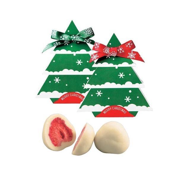 クリスマス お菓子 プチギフト「クリスマスツリードライ苺チョコレート」ウェルカムギフト 業務用 大量 個包装 OG1365-OGT697|hanakobo-wedding