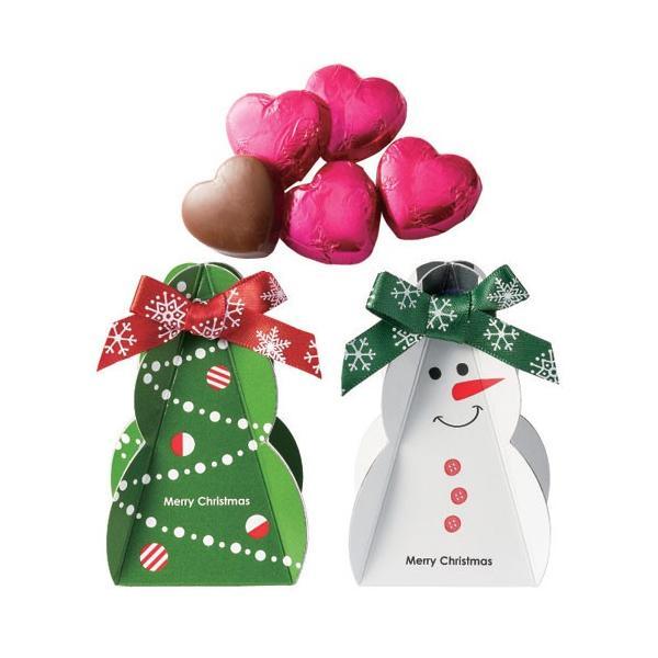 クリスマス お菓子 プチギフト「クリスマスサンタのプチギフト」配る 個包装 ハートチョコレート 業務用 大量 OG1364-OGT704|hanakobo-wedding