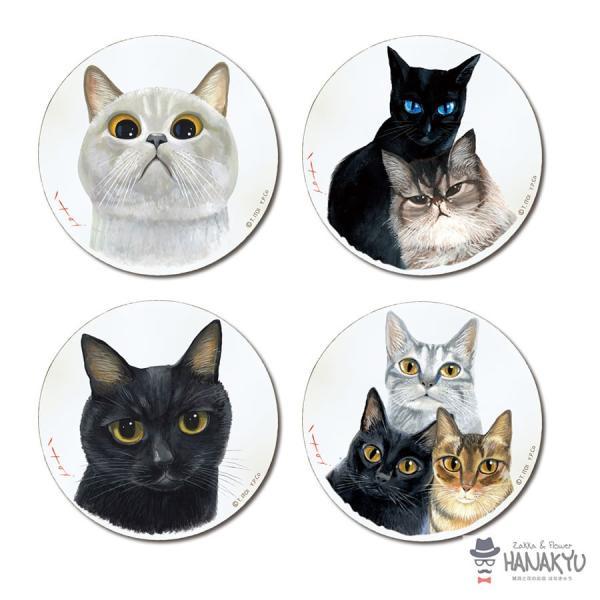 送料無料 木製ラウンドアート 3色トリオ M 違う種類の3匹の猫のつぶらな瞳のかわいい壁掛け 糸井忠晴|hanakyu|10