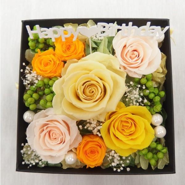 プリザーブドフラワー 誕生日 ボックス 枯れない花 フラワーボックス フラワーBOX 結婚祝い 結婚記念日 サプライス ピンク 赤 黄色 誕生日ボックス|hanaland87|04