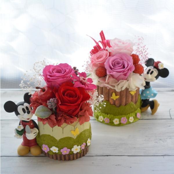 プリザーブドフラワー 誕生日 ディズニー Disney ミッキーマウス ミニーマウス プーさん ギフト クリスマス 送別 結婚祝い クリアケース入りディズニーアレンジ|hanaland87|02