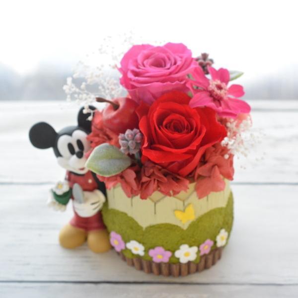 プリザーブドフラワー 誕生日 ディズニー Disney ミッキーマウス ミニーマウス プーさん ギフト クリスマス 送別 結婚祝い クリアケース入りディズニーアレンジ|hanaland87|09