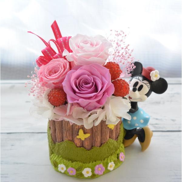 プリザーブドフラワー 誕生日 ディズニー Disney ミッキーマウス ミニーマウス プーさん ギフト クリスマス 送別 結婚祝い クリアケース入りディズニーアレンジ|hanaland87|10