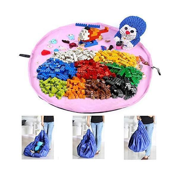 トミカ収納収納バッグ収納袋子どもプレイマットお片付け簡単特大マット大容量直径150cm玩具収納袋自宅/外遊び室外室