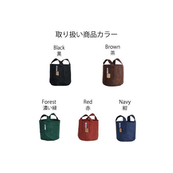 root pouch (ルーツポーチ) 直径25.5cm 【メール便送料無料】 持ち手の付いた不織布ポット 選べる5色 #3 |hanamiki|02