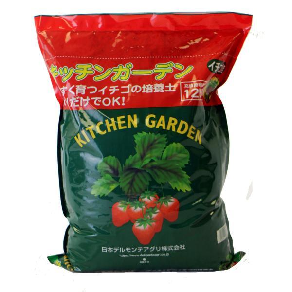 予約商品 送料無料 四季成りイチゴ栽培セット 苗と土と筆の3点セット イチゴ2種類 ガーデン培養土12L 受粉用の筆 10月中旬頃より順次発送|hananoyamato-online|04