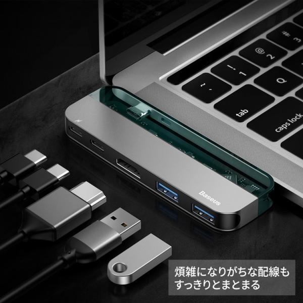 USB C ハブ Type C MacBook Pro 2016 2017 2018 Air 2018 変換 HDMI出力 5in1 USB3.0 Type-Cハブ PD対応 4K高画質 ipad hub|hanaro-online-store|06