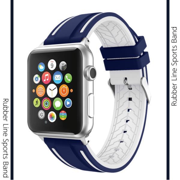 アップルウォッチ バンド ラバー ベルト スポーツ apple watch series4 40mm 44mm series3 38mm 42mm Series Series1 Series2 送料無料|hanaro|02