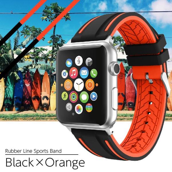 アップルウォッチ バンド ラバー ベルト スポーツ apple watch series4 40mm 44mm series3 38mm 42mm Series Series1 Series2 送料無料|hanaro|11