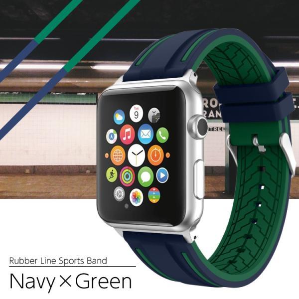 アップルウォッチ バンド ラバー ベルト スポーツ apple watch series4 40mm 44mm series3 38mm 42mm Series Series1 Series2 送料無料|hanaro|13