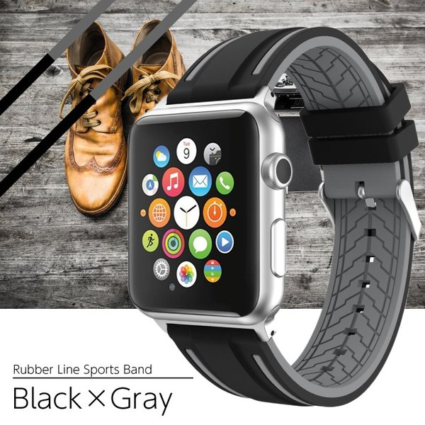 アップルウォッチ バンド ラバー ベルト スポーツ apple watch series4 40mm 44mm series3 38mm 42mm Series Series1 Series2 送料無料|hanaro|17