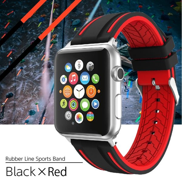 アップルウォッチ バンド ラバー ベルト スポーツ apple watch series4 40mm 44mm series3 38mm 42mm Series Series1 Series2 送料無料|hanaro|19