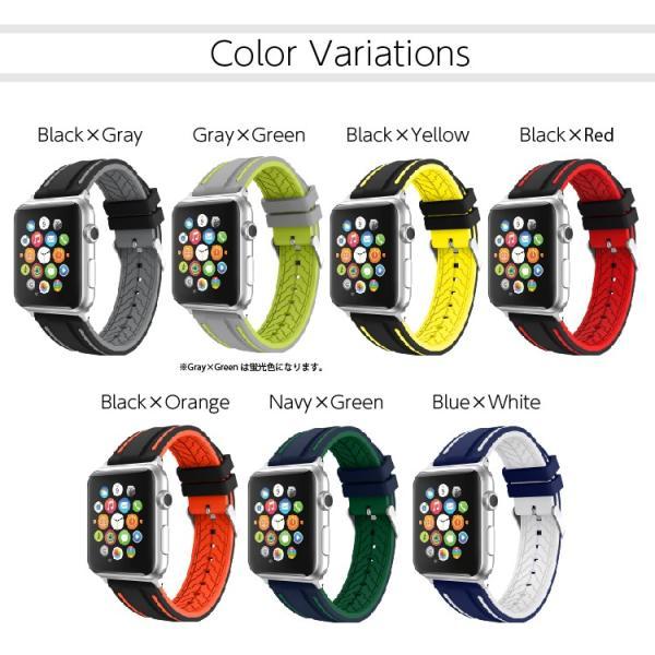 アップルウォッチ バンド ラバー ベルト スポーツ apple watch series4 40mm 44mm series3 38mm 42mm Series Series1 Series2 送料無料|hanaro|20