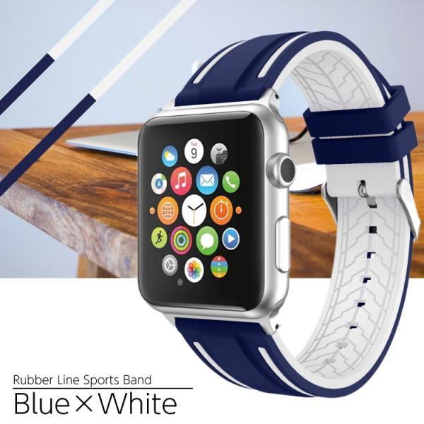 アップルウォッチ バンド ラバー ベルト スポーツ apple watch series4 40mm 44mm series3 38mm 42mm Series Series1 Series2 送料無料|hanaro|09