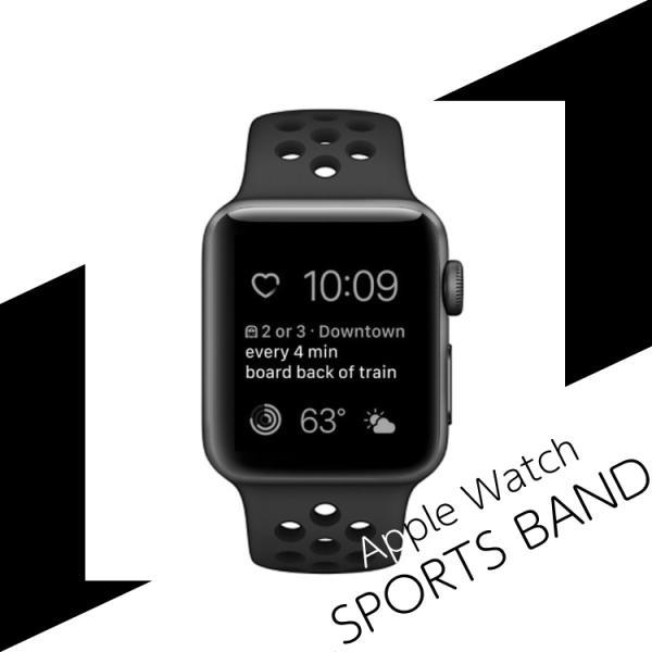 アップルウォッチ バンド ベルト 交換 apple watch series4 40mm 44mm series 3 2 1 スポーツバンド ジョギング 38mm 42mm|hanaro|02