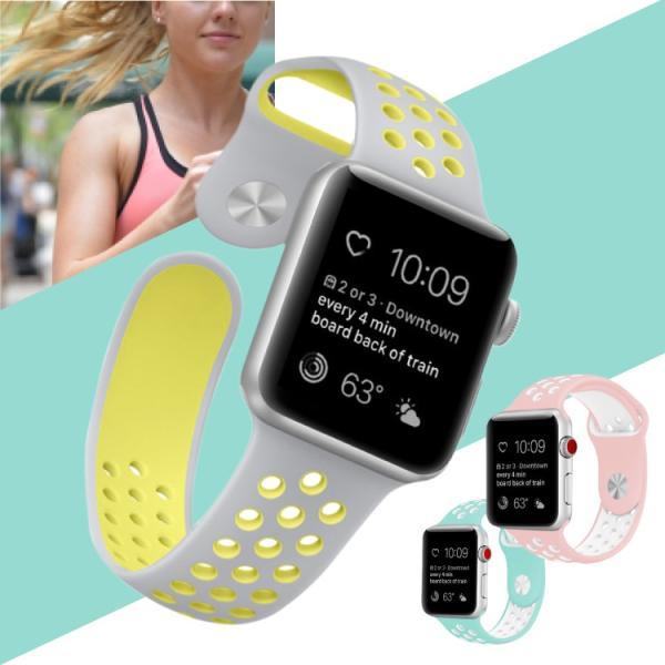 アップルウォッチ バンド ベルト 交換 apple watch series4 40mm 44mm series 3 2 1 スポーツバンド ジョギング 38mm 42mm|hanaro|04