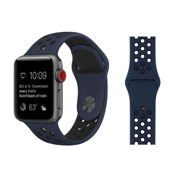 アップルウォッチ バンド ベルト 交換 apple watch series4 40mm 44mm series 3 2 1 スポーツバンド ジョギング 38mm 42mm|hanaro|10