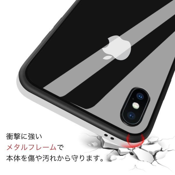 セール iPhone X ケース クリア 金属 メタルフレーム iPhoneXS iPhoneXSMax iPhoneXR iPhone8 iPhone8Plus iPhone7 iPhone7Plus スマホケース hanaro 05