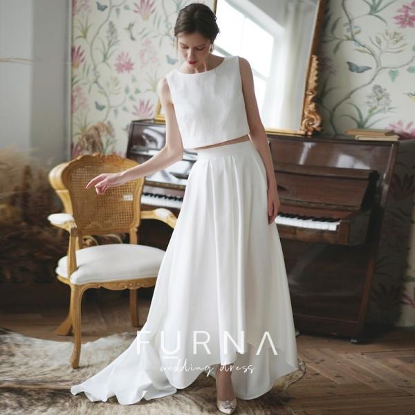 ウエディングドレス 購入 二次会 セパレート 白 結婚式 マーメイド カジュアル 海外 フォトウエディング エンパイア  前撮り 後撮り|hanashop