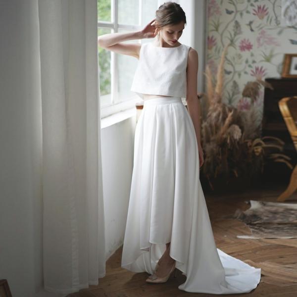 ウエディングドレス 購入 二次会 セパレート 白 結婚式 マーメイド カジュアル 海外 フォトウエディング エンパイア  前撮り 後撮り|hanashop|02