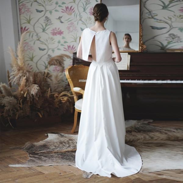 ウエディングドレス 購入 二次会 セパレート 白 結婚式 マーメイド カジュアル 海外 フォトウエディング エンパイア  前撮り 後撮り|hanashop|05