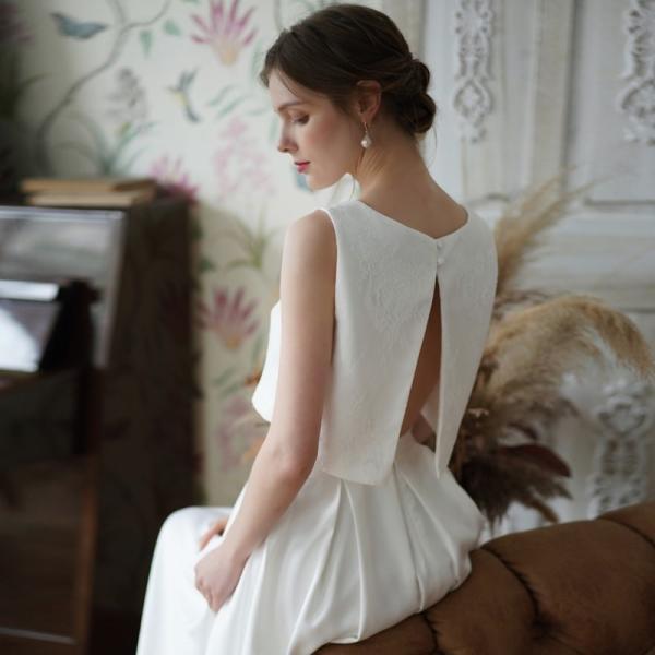 ウエディングドレス 購入 二次会 セパレート 白 結婚式 マーメイド カジュアル 海外 フォトウエディング エンパイア  前撮り 後撮り|hanashop|08