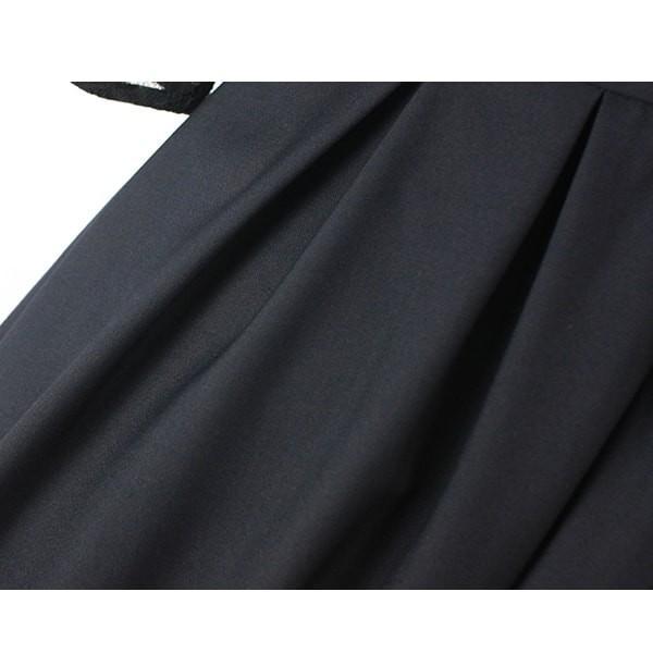ドレス 結婚式 パーティードレス 袖あり ワンピース ミモレ丈 ひざ下 レース 二次会 大きいサイズ お呼ばれ 20代 30代 40代 50代|hanashop|16