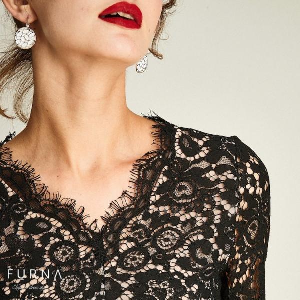 パーティードレス 結婚式 ドレス パンツドレス コンビネゾン オールインワン 袖あり ワンピース レース 二次会 大きいサイズ  30代 40代|hanashop|14