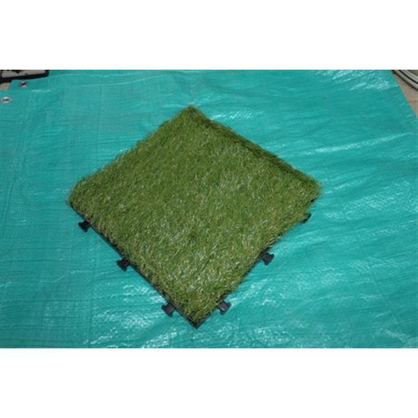 リアル人工芝生ジョイントマット(10枚入り) グリーン