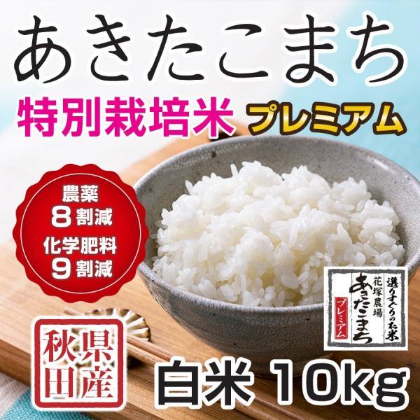 令和2年産米 秋田県産 あきたこまち 特別栽培プレミアム 白米 10kg 農薬8割減 化学肥料9割減 慣行栽培比 直送