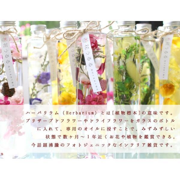 花うるるのハーバリウム (ホワイトデーのお返し 薔薇 春 花 プリザーブドフラワー ハーバリウム 結婚祝い 通販 退職祝い プレゼント|hanaururu|03