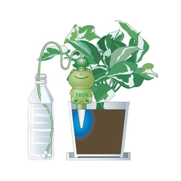 「水やり当番 カエル君(1個入)」電池も電源も不要。あなたに代わって水やりしてくれます!(散水機 水やり 自動 留守 花 帰省 旅行時などに