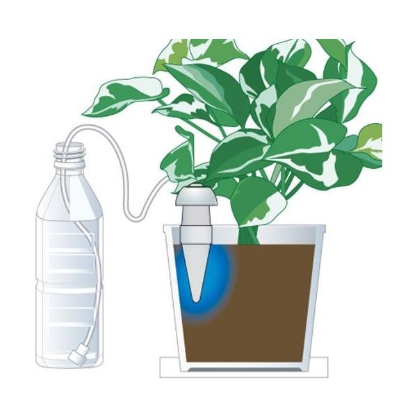 「水やり当番 Mサイズ(2個入)」電池も電源も不要。あなたに代わって水やりしてくれます!(散水機 水やり 自動 留守 花 帰省 旅行時などに