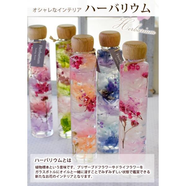 ハーバリウム Herbarium 選べる9種 ウッドナチュラル ラウンド型 シリンダー型 ブリック型 瓶 ボトル 植物標本 ディスプレイ ギフト 花|hanayoshi-y|02