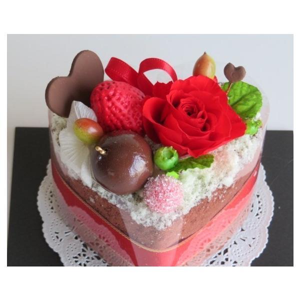 フラワーケーキ プリザーブドフラワー 誕生日 プレゼント 送料無料 ストロベリーハーティーショコラ|hanazakkahanako|03