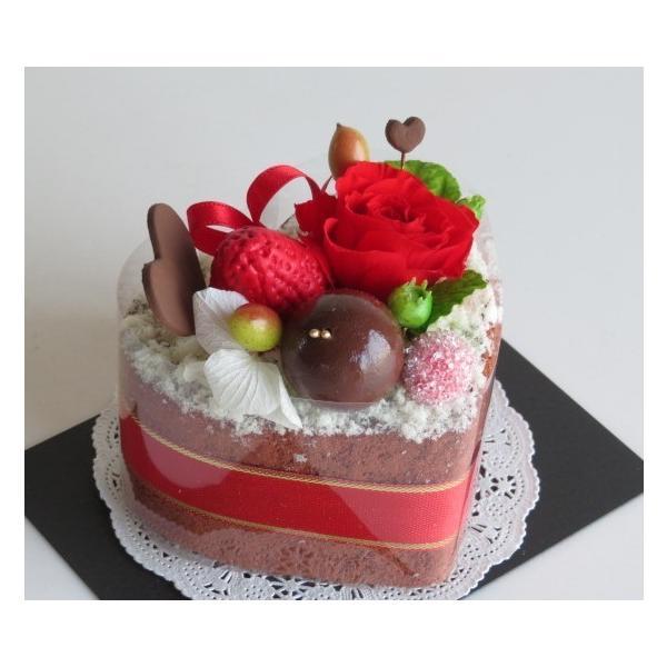 フラワーケーキ プリザーブドフラワー 誕生日 プレゼント 送料無料 ストロベリーハーティーショコラ|hanazakkahanako|04