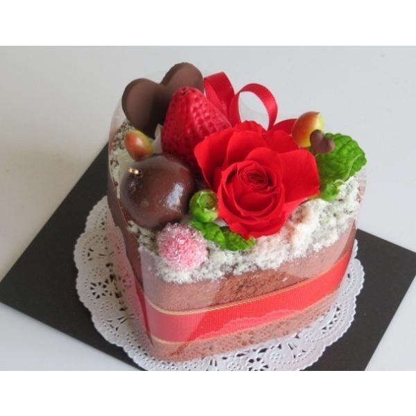 フラワーケーキ プリザーブドフラワー 誕生日 プレゼント 送料無料 ストロベリーハーティーショコラ|hanazakkahanako|05